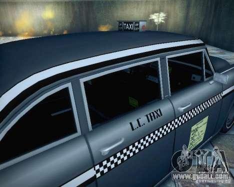 Diablo Cabbie HD for GTA San Andreas back view