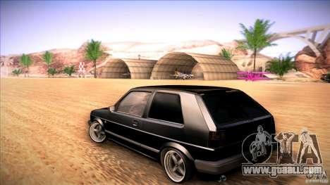 Volkswagen Golf MK II for GTA San Andreas back left view