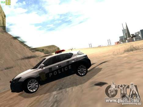 Lexus CT200H Japanese Police for GTA San Andreas right view