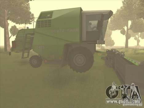 Deutz Harvester for GTA San Andreas back left view