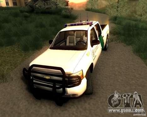 Chevrolet Silverado Police for GTA San Andreas right view