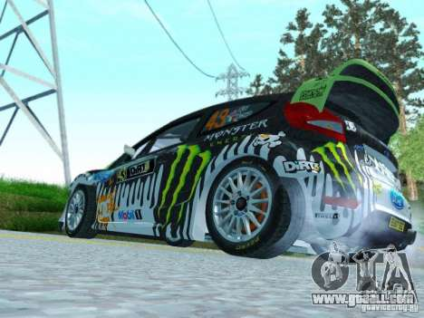 Ford Fiesta Ken Block Dirt 3 for GTA San Andreas right view