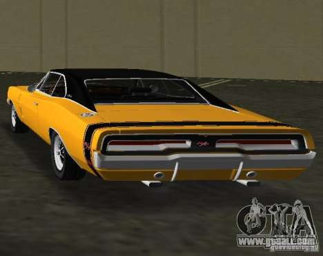 Dodge Charger RT 1969 for GTA Vice City back left view
