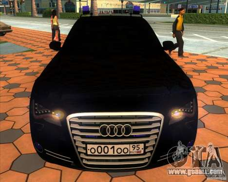 Audi A8 2010 v2.0 for GTA San Andreas upper view