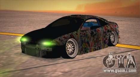 Mitsubishi Eclipse 1997 Drift for GTA San Andreas right view