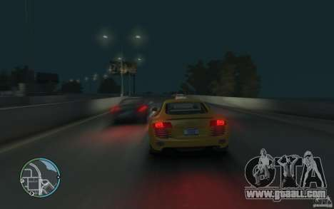 Audi R8 4.2 FSI for GTA 4 back left view