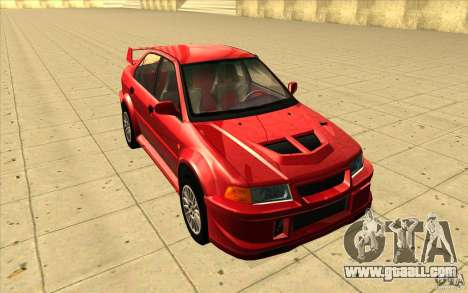 Mitsubishi Lancer Evo 6 for GTA San Andreas back view