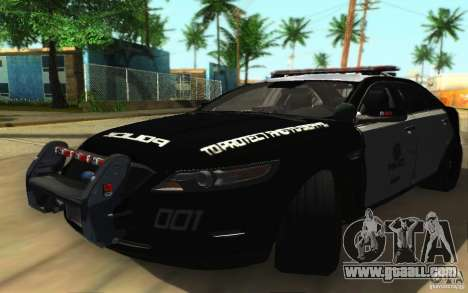 Ford Taurus 2011 LAPD Police for GTA San Andreas left view