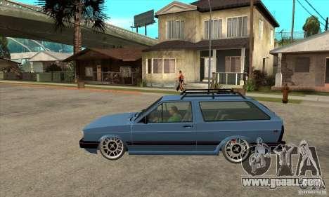 VW Fox 1989 v.2.0 for GTA San Andreas left view