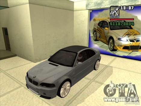 BMW M3 CSL E46 G-Power for GTA San Andreas back view