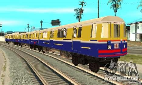 Liberty City Train Italian for GTA San Andreas back left view