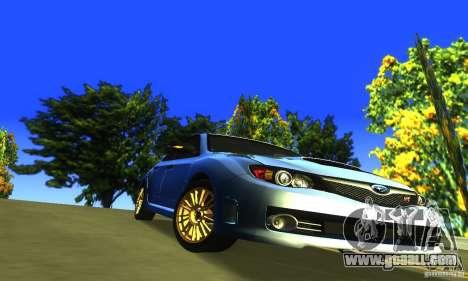 Subaru Impresa WRX STI 2008 for GTA San Andreas inner view