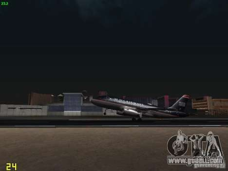Airbus A319 USAirways for GTA San Andreas inner view