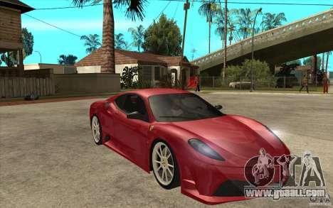 Ferrari F430 Scuderia for GTA San Andreas back view
