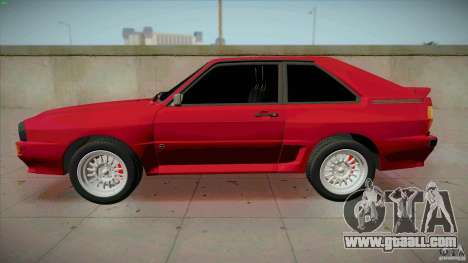Audi Sport quattro 1983 for GTA San Andreas left view