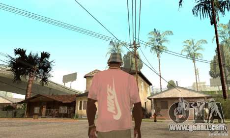 Pink Nike T-Shirt for GTA San Andreas second screenshot
