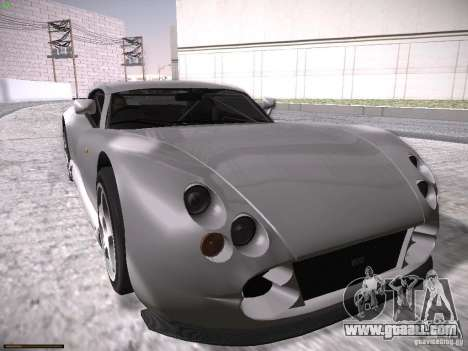 TVR Cerbera Speed 12 for GTA San Andreas bottom view