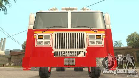FDNY Seagrave Marauder II Tower Ladder for GTA San Andreas back view
