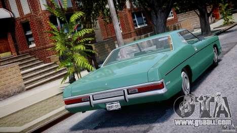 Mercury Monterey 2DR 1972 for GTA 4 back left view