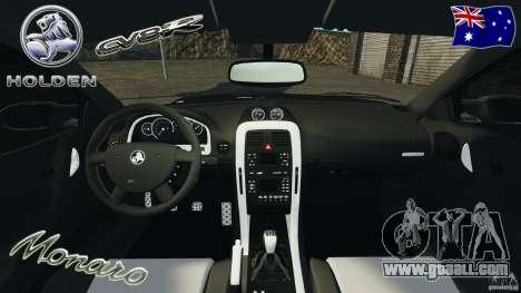 Holden Monaro CV8-R for GTA 4 back view