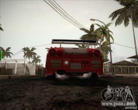 Nissan Skyline Z-Tune v2.0 for GTA San Andreas bottom view