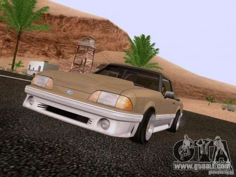 Ford Mustang GT 5.0 Convertible 1987 for GTA San Andreas left view