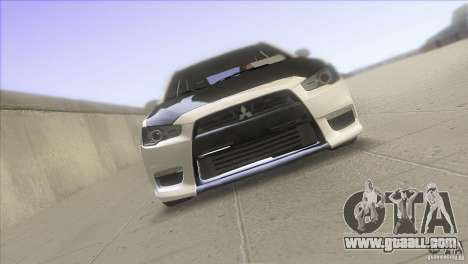 Mitsubishi Lancer Evo IX DIM for GTA San Andreas right view