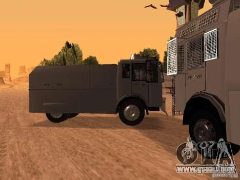 A police water cannon Rosenbauer for GTA San Andreas left view