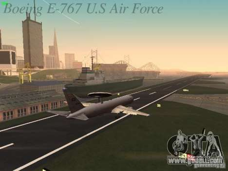Boeing E-767 U.S Air Force for GTA San Andreas bottom view