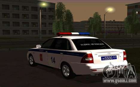 LADA 2170 Police for GTA San Andreas back left view