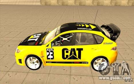 Subaru Impreza WRX STi with new vinyl unique for GTA San Andreas back view
