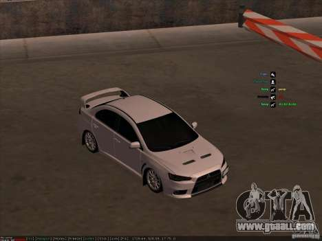Mitsubishi Lancer Evolution X for GTA San Andreas back view