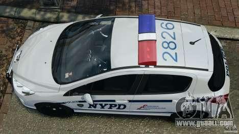 Peugeot 308 GTi 2011 Police v1.1 for GTA 4 right view