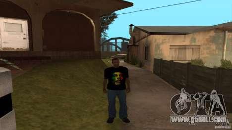 Bob Marley t-shirt for GTA San Andreas