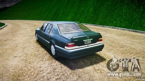 Mercedes Benz SL600 W140 1998 higher Performance for GTA 4 back left view