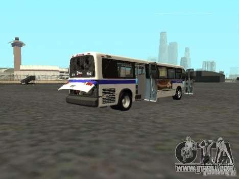 GMC RTS MTA New York City Bus for GTA San Andreas right view