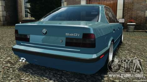 BMW E34 V8 540i for GTA 4 back left view