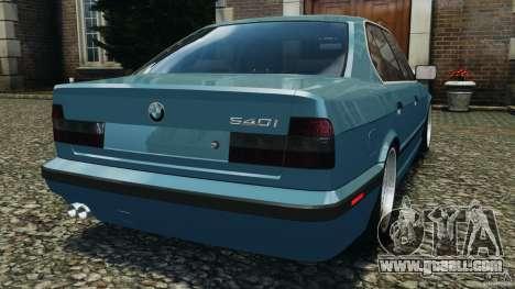 BMW E34 V8 540i for GTA 4 back left view