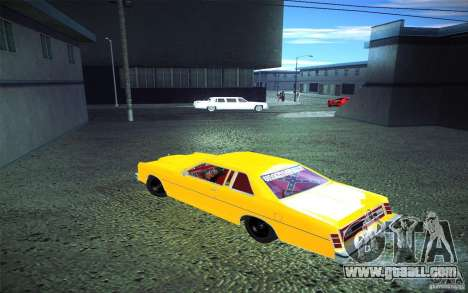 Ford LTD Coupe 1975 for GTA San Andreas inner view