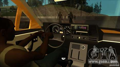 Volkswagen Santana GLS for GTA San Andreas inner view