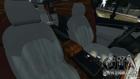 Audi A8 Limo v1.2 for GTA 4 inner view
