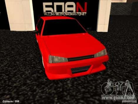 VAZ 2109 Opera Turbo for GTA San Andreas right view