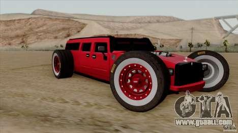 Hummer H2 The HumROD for GTA San Andreas