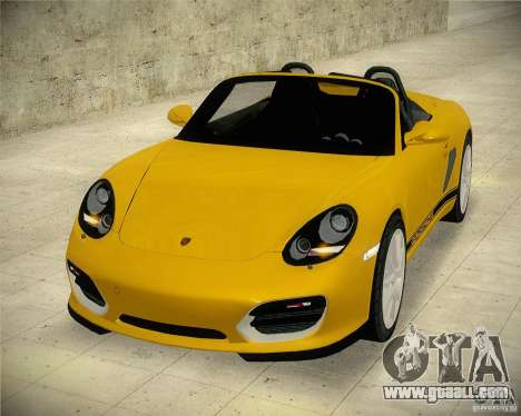 Porsche Boxter Spyder for GTA San Andreas right view