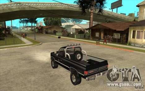 GMC Sierra 1986 FBI for GTA San Andreas back left view
