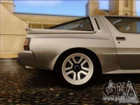 Mitsubishi Starion ESI-R 1986 for GTA San Andreas inner view