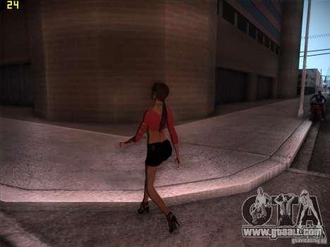 Skin Girl NFS PS for GTA San Andreas second screenshot