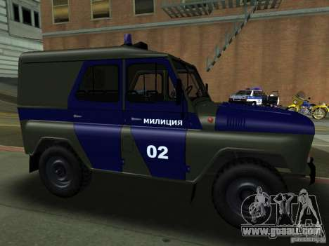 UAZ 3151 Police for GTA San Andreas back view