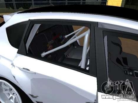 Subaru Impreza STI hellaflush for GTA San Andreas upper view