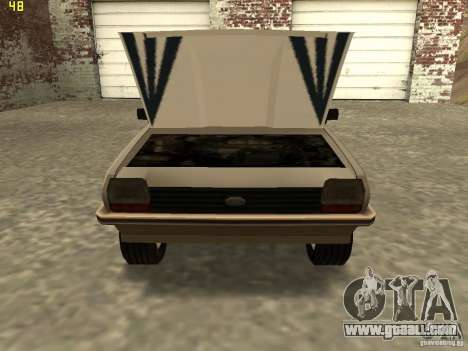 Ford Fiesta 1981 for GTA San Andreas back left view